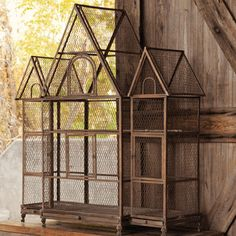 Our magnificent antique-inspired birdcage palace is an eye-catching work of art as well as a wonderfully versatile accessory. Consider the addition of groupings of candles for intimate evening lightin. Finch Bird House, Finch Cage, Flight Cage, Diy Bird Cage, Park Hill Collection, Vintage Store Displays, Antique Bird Cages, Chicken Cages, Bird Aviary