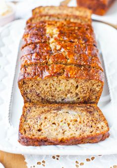 Six-Banana Banana Bread - contains dairy so Wes can't eat it, but it sounds so yummy I have to give it a try!