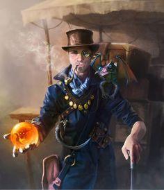 Steampunk Tendencies   Art by Mr Mort  #Digitalart #Fantasy #Steampunk