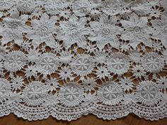 Beige Cotton Crochet Fabric, Antique Embroidery Cotton Lace Fabric, Garment Curtains Fabric Supply This listing is for 0.5 yard. If you buy more, you will get a uncut piece . Width: 51.2 (130 cm) Use for dress supplies, costume fabric, dresses, gift package, bags decoration,