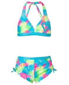 Breaking Waves Kids Swimsuit, 2-Piece Bikini