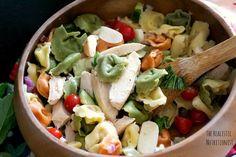 Chicken Tortellini Salad   The Realistic Nutritionist #salad #pasta #tortellini #chicken