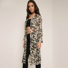 We love it and we know you also love it as well Fashion 2017 Women Basic Coats Spring Autumn Loose Camouflage Printed Long Jacket Perspective Casual Outwear Coats Plus Size just only $25.00 with free shipping worldwide  #womanjacketscoats Plese click on picture to see our special price for you