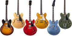 Gibson ES-335の特徴、サウンド、ラインナップについて
