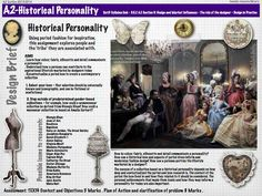 Design Brief for the Historical Personality assignment. Adapted from an assignment from Steven Faerm's book - Fashion Design Course. Fashion Week Dates, A Level Textiles, Art Worksheets, Study Design, Art Lesson Plans, Model Photos, Textile Design, Art Lessons, Personality