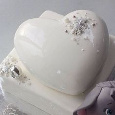 Image result for white mirror glaze hearts