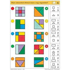 Preschool Math, Classroom Activities, Teaching Math, Learning Activities, Kids Learning, Iq Kids, Math For Kids, Visual Perception Activities, Special Education