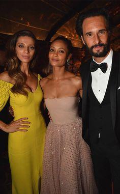Angela Sarafyan, Thandie Newton, Rodrigo Santoro, HBO Emmy Party Pics 2017