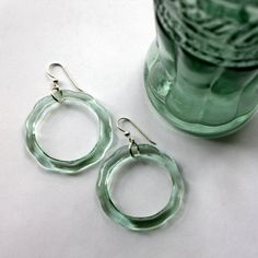 COKE Bottle Earrings Upcycled Jewelry Coca  by DessinCreations, $38.00