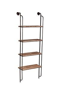 Our stylish industrial clothes rail is the prefect storage solution. The combination of wood and metal frames gives this shelf an industrial charm. Wood A Wall Mounted Shelves, Metal Shelves, Storage Shelves, Floating Shelves, Shelf, Industrial Clothes Rail, Industrial Shelving, Wood Bookshelves, Ladder Bookcase