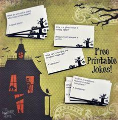 Freebie | Printable Halloween Jokes
