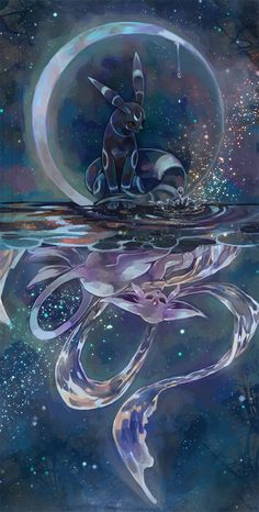 Breathtaking umbreon and espeon pokemon fan art! Umbreon And Espeon, Pokemon Eeveelutions, Eevee Evolutions, Shiny Umbreon, Pokemon Fan Art, All Pokemon, Pokemon Fusion, Pokemon Mignon, Photo Pokémon