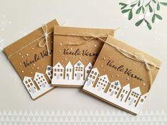 Simple Christmas Cards, All Things Christmas, Christmas Gifts, Christmas Decorations, Diy And Crafts, Arts And Crafts, Brown Paper Packages, Christmas Inspiration, Gift Bags