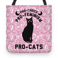 Pro-Choice Pro-Feminism... | Tote Bags, Grocery Bags and Canvas Bags | HUMAN