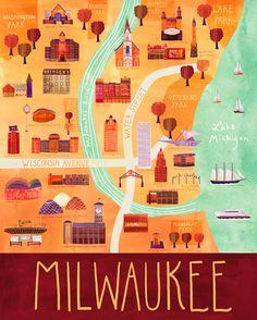 Marisa Seguin map - Milwaukee, Michigan