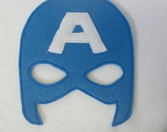 Captain America Avengers Felt Mask by lilliannamarie on Etsy Felt Mask, Super Party, Felt Patterns, Crafts For Kids, Children Crafts, Hulk, Captain America, Costumes, Costume Ideas