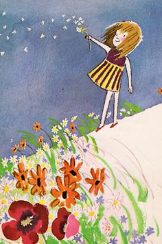 Dandelions...always had to make a wish.