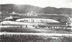 The Velodrome was built for the 1896 Olympic Games. 1896 Olympics, Yamaha Logo, History Page, History Of Photography, Athens Greece, Old City, Olympic Games, Old Photos, Paris Skyline