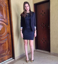 @lookbyus look trabalho work outfit style fashion black dress pretinho básico vestido preto blazer
