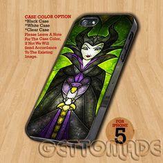 Maleficent Sleeping Beauty - Print On Hard Case iPhone 5 Case | GetToMade - Accessories on ArtFire