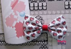 Legend of Zelda Heart container Bow -  Hair bow/ Bow tie  Unique handmade Geeky Gamer bow