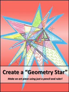 ". It's a simple review of point, line, line segment, endpoints, angles, and ruler use, plus the ""stars"" turn into unique, colorful art work for the classroom!"