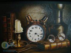 تابلو نقاشی رنگ روغن / طبیعت بی جان 60 در 80 سانتیمتر با قاب نفیس دارای امضائ صاحب اثر