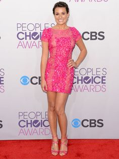 Valentine's Day dress inspiration: Lea Michele's pretty in pink at the People's Choice Awards!