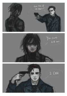 The Winter Soldier and Bucky Barnes // NOOOOO