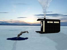 In the freezing winter months this wooden sauna on a Finnish island can be towed like a sledge over a frozen lake to find the right spot for a plunge pool. London architects Denizen Works + Friends designed the mobile sauna on site and constructed it in just nine days using locally sourced timber and …