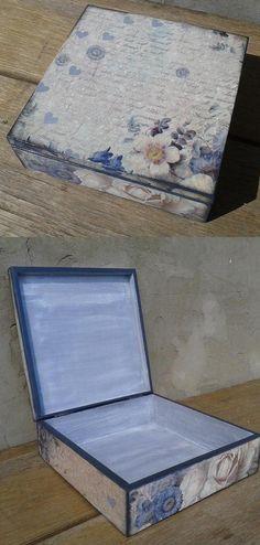 hand made, pudełko, decouage, flowers, DIY