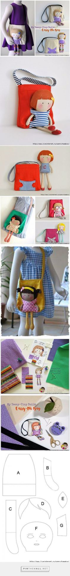 My tiny doll in hand bag