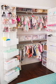 Project Nursery -closet organization:)