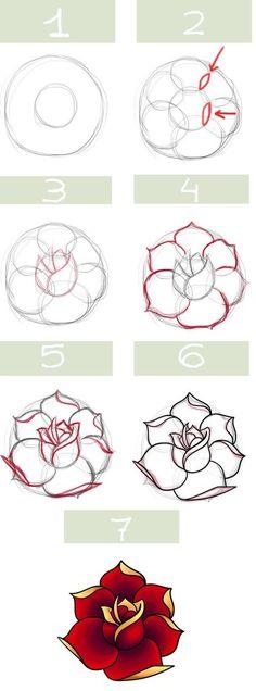 Comment dessiner une rose?
