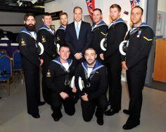 HRH #PrinceWilliam The Duke of Cambridge with serving submariners, currently on course at HMS Sultan. #RoyalNavy #submarine #museum #HMSAlliance #submariner #HMS #HMSSultan #Royalvisit