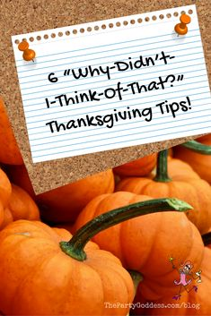 Looking for easylicious ideas? The Party Goddess shares Thanksgiving tips to spice up your holiday! Check it out at https://thepartygoddess.com/6-didnt-think-thanksgiving-tips #thanksgivingtips #thanksgiving #eventprofs #holidays
