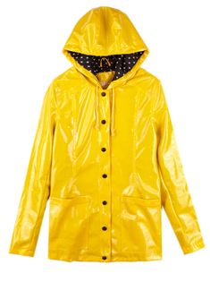 Yellow Vintage Dot Raincoat, love this one $60