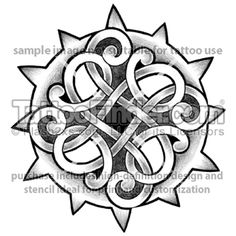 Celtic compass tattoo in white ink!