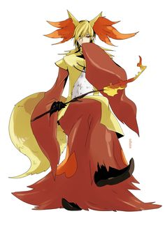 Pokémon - 655 Delphox art by Udune (Zerochan)