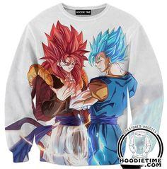 Dragon Ball Z Hoodie - Super Saiyan Blue Vegito and Gogeta Hoodie - Hoodies Clothing