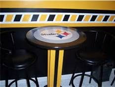 Unique Pittsburgh Steelers Bar Set