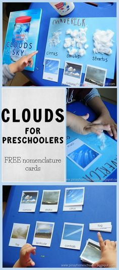 Clouds for Preschoolers (FREE nomenclature cards)