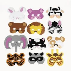 Lions, tigers and bears are just a few of the creatures you will find in this Foam Animal Mask set. Each pack includes 12 foam animal masks in assorted style. Each mask comes with an easy-to-use elast