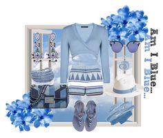 """Am I Blue"" by latinavixn ❤ liked on Polyvore featuring BCBGMAXAZRIA, Melissa Odabash, Sif Jakobs Jewellery, Etro, Ice, Laidback London and MICHAEL Michael Kors"