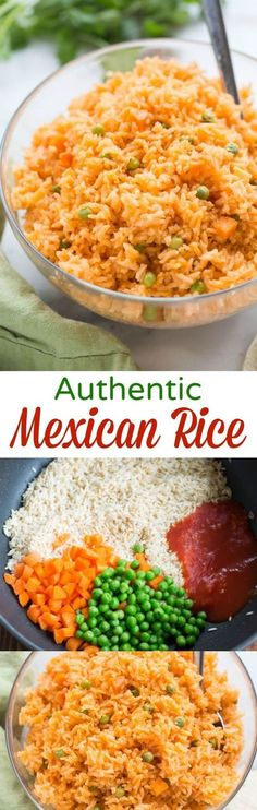 The BEST, truly authentic Mexican rice! Super easy to make from home, and a nece… The BEST, truly authentic Mexican rice! Super easy to make from home, and a necessary side dish for all of your favorite Mexican recipes. Rice Recipes, Side Dish Recipes, Pasta Recipes, Mexican Food Recipes, Dinner Recipes, Cooking Recipes, Healthy Recipes, Ethnic Recipes, Slow Cooking