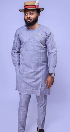 Call, SMS or WhatsApp if you want this style, needs a skilled tailor to hire or you want to expand more on your fashion business. African Shirts For Men, African Dresses Men, African Attire For Men, African Clothing For Men, African Wear, African Outfits, African Clothes, African Style, Nigerian Men Fashion