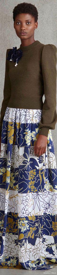 Roksanda R-17: lovely sweater, printed maxi skirt.