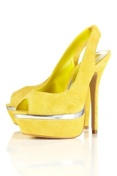 gorgeous yellow heels