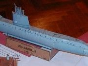 Simple USS Nautilus (SSN-571) Nuclear-powered Submarine Free Paper Model Download