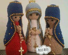 Resultado de imagem para imagem de Nossa Senhora de Fátima em crochet